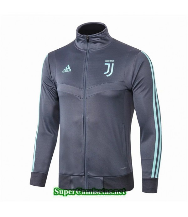 Tailandia Camiseta Juventus Chaqueta V346 Gris Oscuro/banda Verde 2019/20