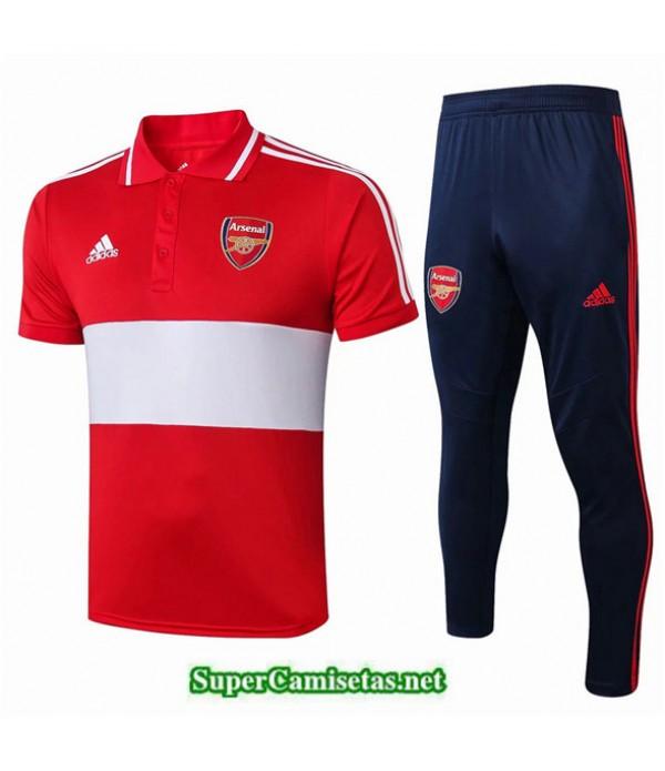 Tailandia Camiseta Kit De Entrenamiento Arsenal Polo V235 Rojo/azul 2019/20
