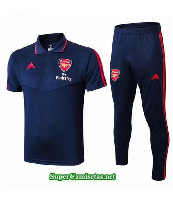 Tailandia Camiseta Kit De Entrenamiento Arsenal Polo V240 Azul Oscuro 2019/20