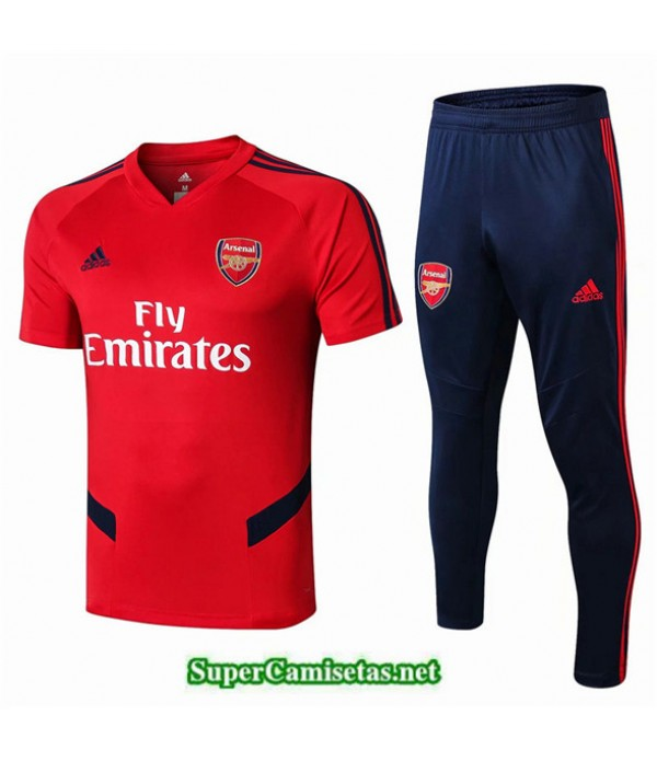 Tailandia Camiseta Kit De Entrenamiento Arsenal V238 Rojo/azul Oscuro Cuello V 2019/20