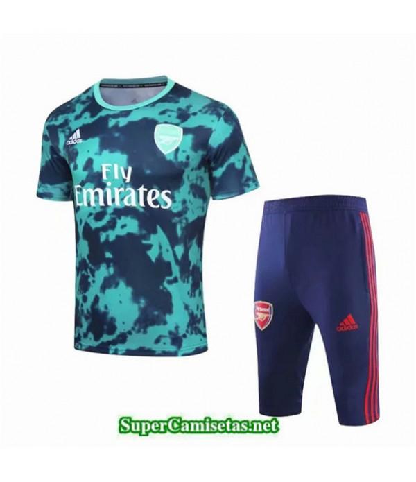 Tailandia Camiseta Kit De Entrenamiento Arsenal V239 Azul Cuello Redondo 2019/20
