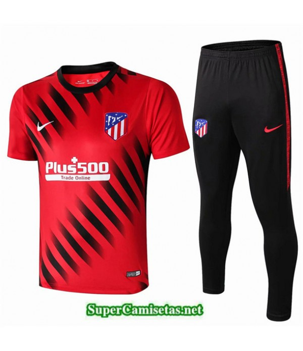 Tailandia Camiseta Kit De Entrenamiento Atletico Madrid V209 Rojo/negro Cuello Redondo 2019/20