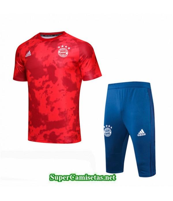 Tailandia Camiseta Kit De Entrenamiento Bayern Munich V200 Rojo/azul Cuello Redondo 2019/20