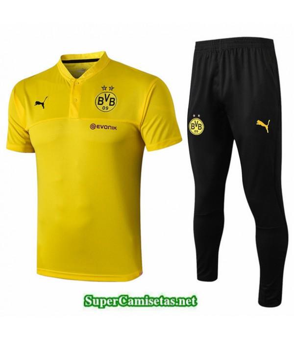 Tailandia Camiseta Kit De Entrenamiento Dortmund Polo V204 Amarillo/negro Cuello V 2019/20