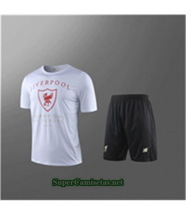 Tailandia Camiseta Kit De Entrenamiento Liverpool V243 Blanco/negro Cuello Redondo 2019/20
