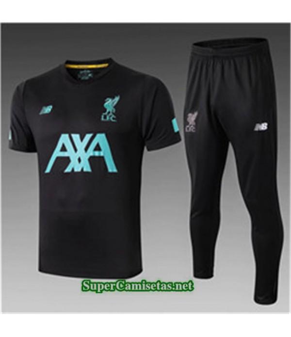 Tailandia Camiseta Kit De Entrenamiento Liverpool V245 Negro Cuello V 2019/20