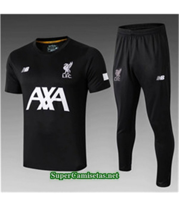 Tailandia Camiseta Kit De Entrenamiento Liverpool V247 Negro Cuello Redondo 2019/20