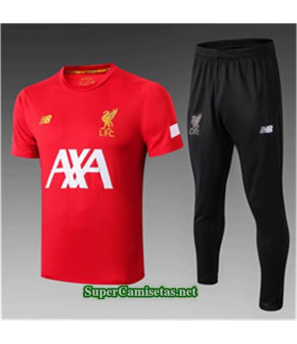 Tailandia Camiseta Kit De Entrenamiento Liverpool V248 Rojo/negro Cuello Redondo 2019/20