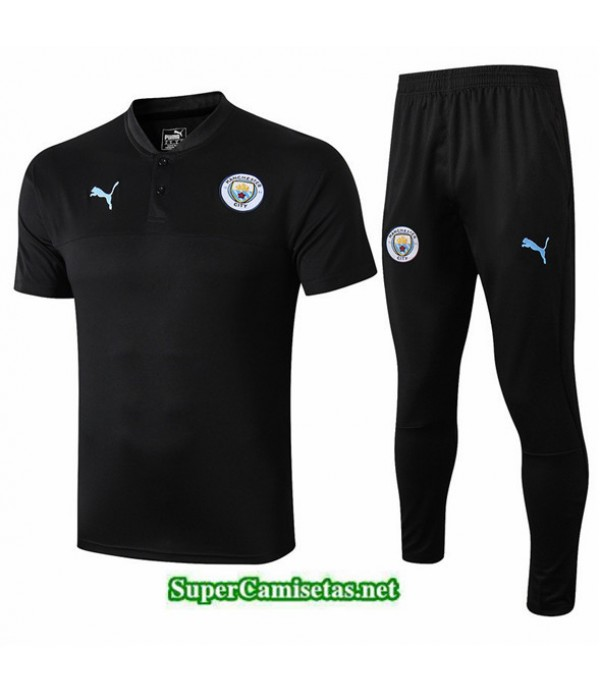 Tailandia Camiseta Kit De Entrenamiento Manchester City V250 Negro Cuello V 2019/20