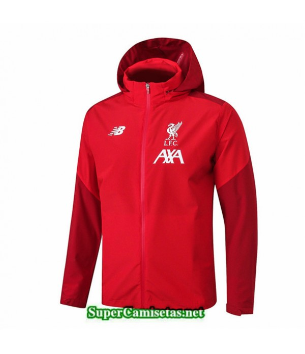Tailandia Camiseta Liverpool Chaqueta Rompevientos Sombrero V318 Rojo 2019/20
