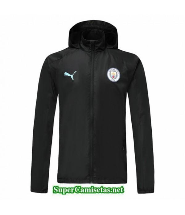 Tailandia Camiseta Manchester City Chaqueta Rompevientos Sombrero V324 Black 2019/20