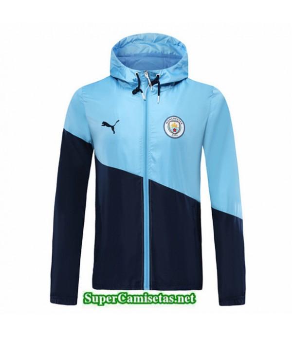 Tailandia Camiseta Manchester City Chaqueta Rompevientos Sombrero V325 Azul Oscuro 2019/20