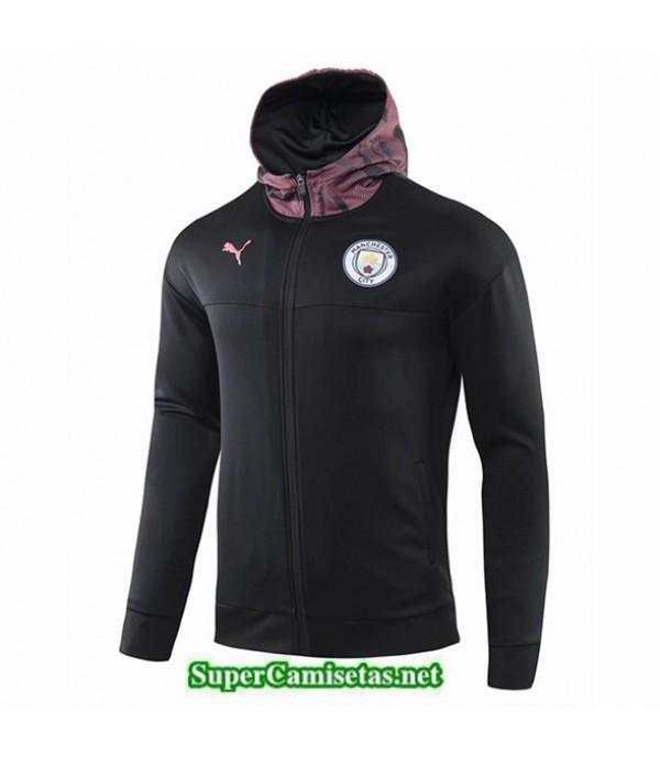 Tailandia Camiseta Manchester City Chaqueta Sombrero V321 Negro/púrpura 2019/20