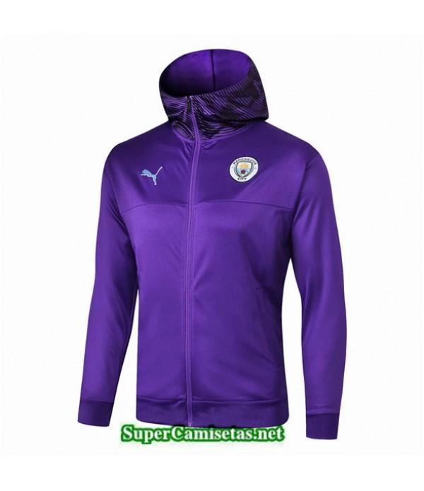 Tailandia Camiseta Manchester City Chaqueta Sombrero V323 Púrpura 2019/20
