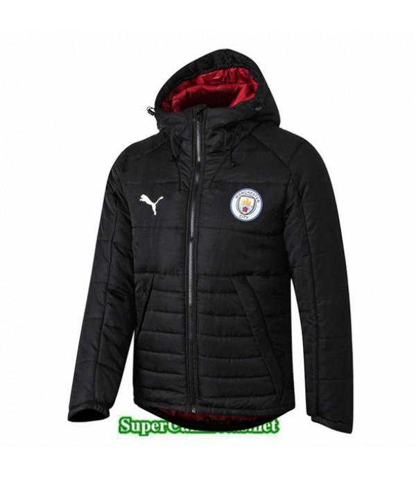 Tailandia Camiseta Manchester City Doudoune Chaqueta Sombrero V326 Negro 2019/20