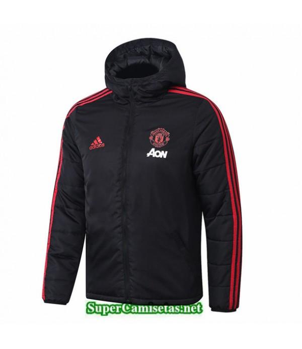 Tailandia Camiseta Manchester United Doudoune Chaqueta Sombrero V329 Negro 2019/20