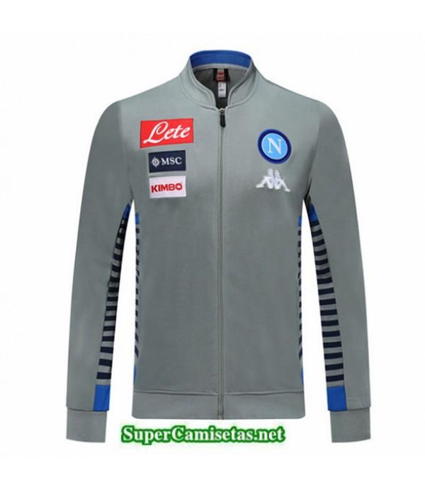 Tailandia Camiseta Napoli Chaqueta V357 Gris/azul 2019/20