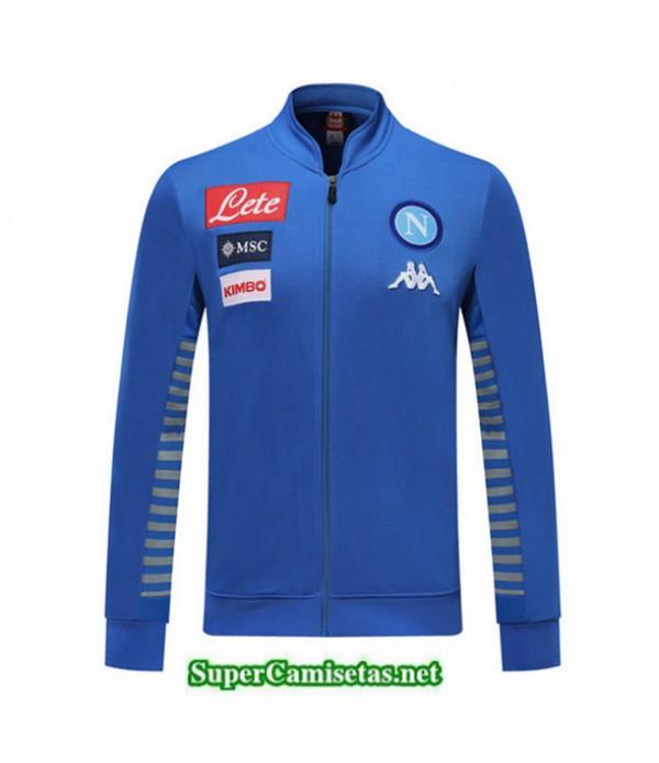 Tailandia Camiseta Napoli Chaqueta V358 Azul/gris 2019/20