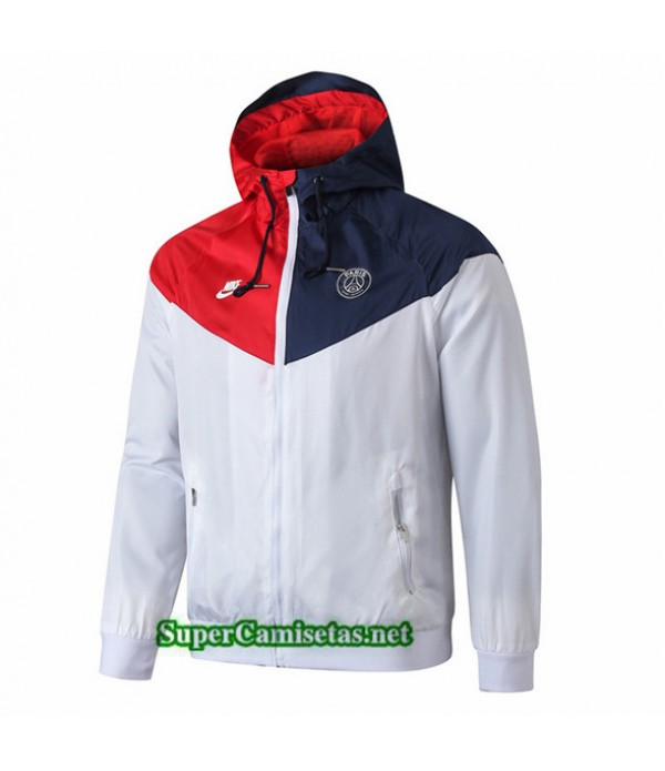 Tailandia Camiseta Psg Chaqueta Rompevientos Sombrero V297 Blanco/rojo/azul 2019/20