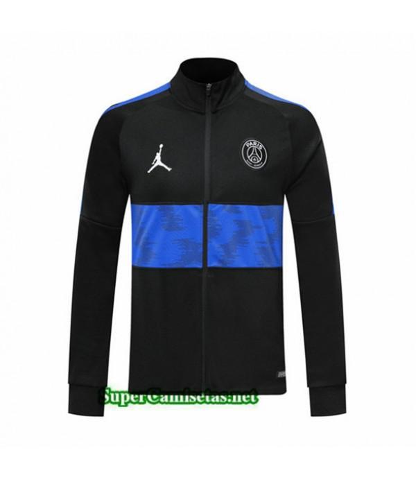 Tailandia Camiseta Psg Chaqueta V295 Negro/banda Azul 2019/20