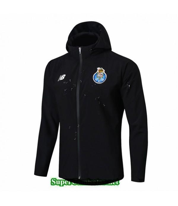 Tailandia Camiseta Porto Chaqueta Rompevientos Sombrero V303 Negro 2019/20