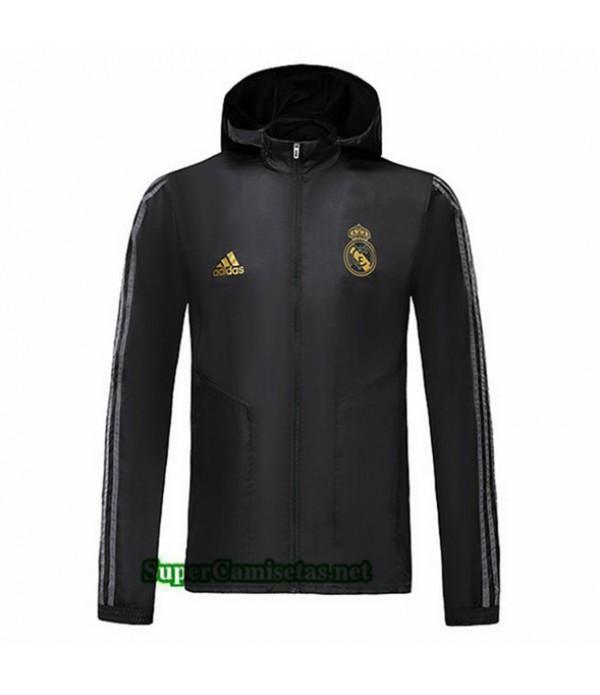 Tailandia Camiseta Real Madrid Chaqueta Rompevientos Sombrero V279 Negro 2019/20