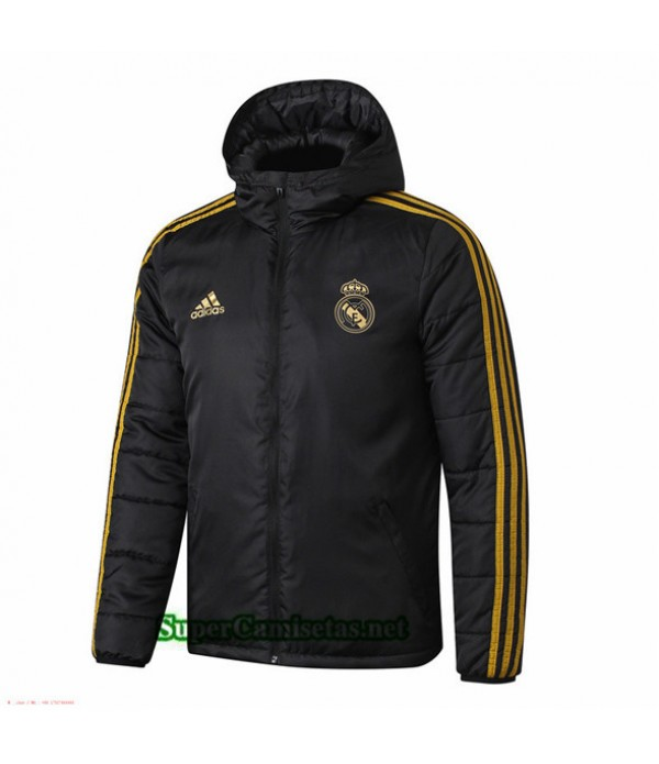Tailandia Camiseta Real Madrid Doudoune Chaqueta Sombrero V280 Negro 2019/20