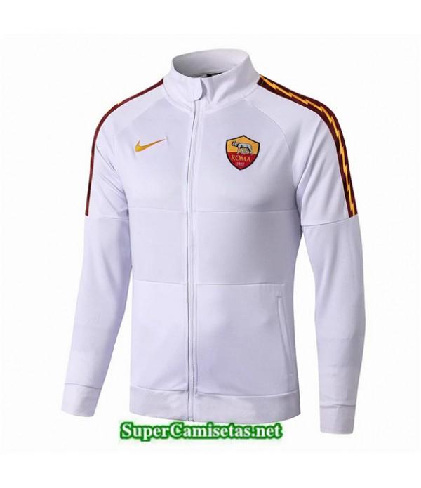 Tailandia Camiseta Roma Chaqueta V338 Blanco/azul Oscuro 2019/20