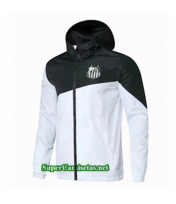 Tailandia Camiseta Santos Laguna Chaqueta Rompevientos Sombrero V287 Blanco/negro 2019/20