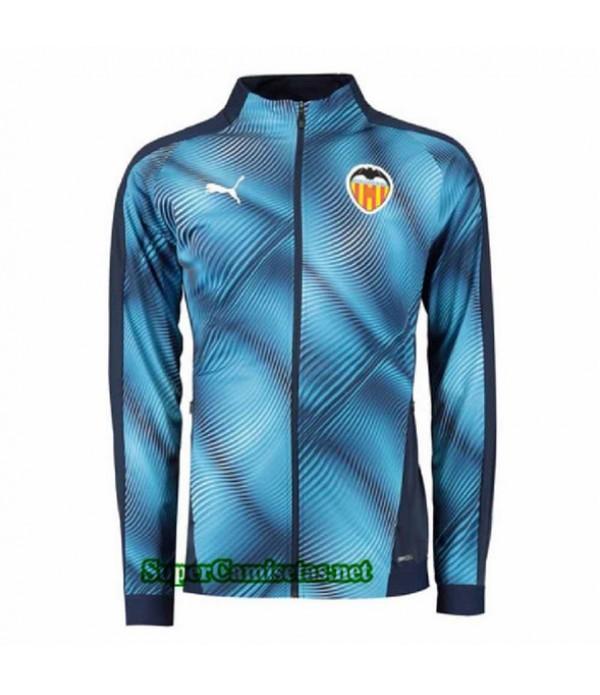 Tailandia Camiseta Valencia Chaqueta V282 Azul Oscuro 2019/20