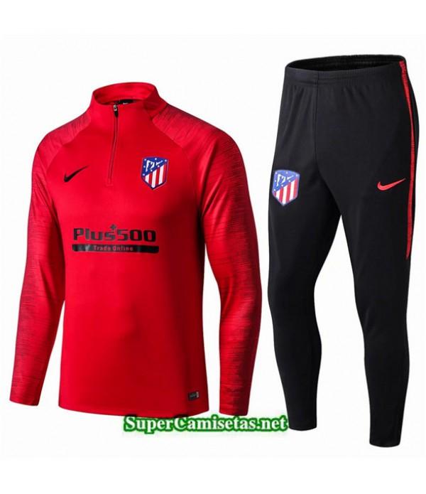 Tailandia Chandal Atletico Madrid V029 Rojo/negro Cremallera Mitad 2019/20