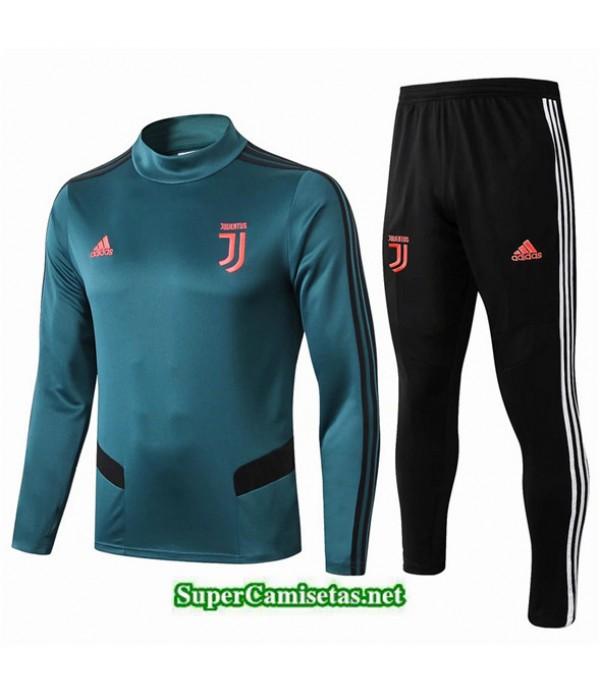 Tailandia Chandal Juventus V121 Azul/negro Cuello Alto 2019/20