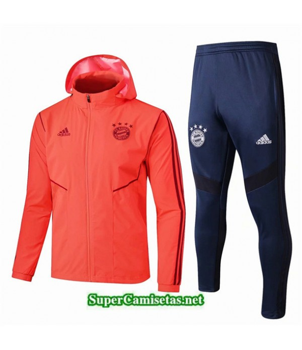 Tailandia Chaqueta Rompevientos Bayern Munich V011 Sombrero Naranja/azul Oscuro 2019/20