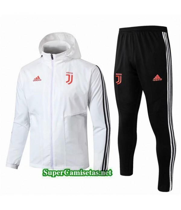 Tailandia Chaqueta Rompevientos Juventus V123 Sombrero Blanco/negro 2019/20
