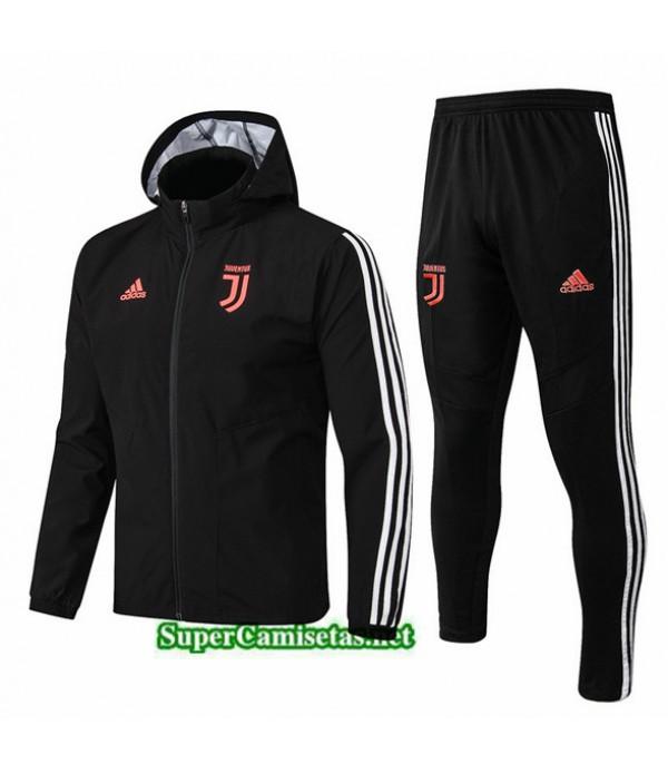 Tailandia Chaqueta Rompevientos Juventus V124 Sombrero Negro 2019/20