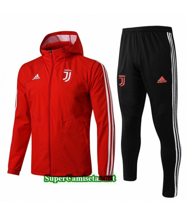 Tailandia Chaqueta Rompevientos Juventus V125 Sombrero Rojo/negro 2019/20