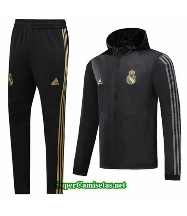 Tailandia Chaqueta Rompevientos Real Madrid V040 Sombrero Negro 2019/20