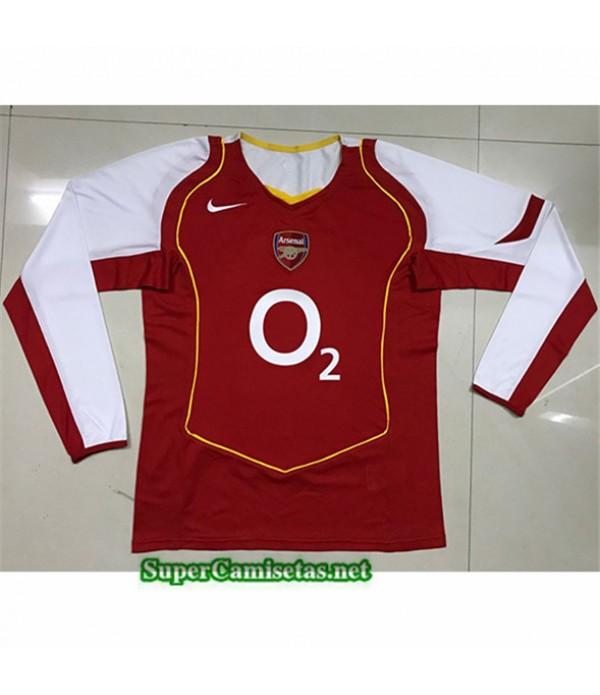 Tailandia Primera Equipacion Camiseta Clasicas Arsenal Manga Larga 2004 05