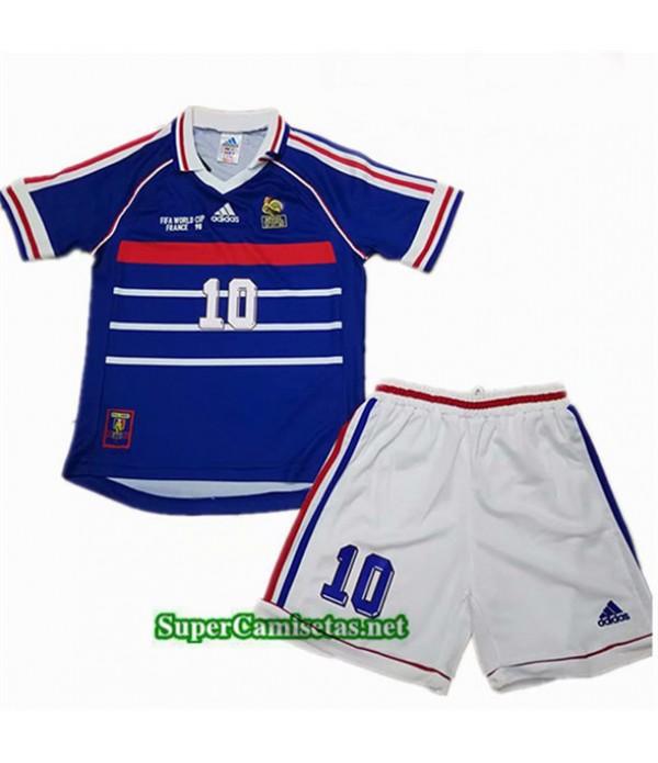 Tailandia Primera Equipacion Camiseta Retro Francia Niños 1998