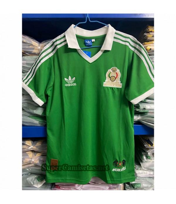 Tailandia Primera Equipacion Camiseta Retro Mexico 1986