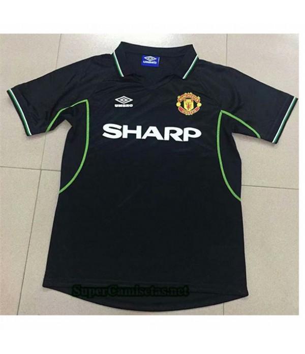 Tailandia Segunda Equipacion Camiseta Clasicas Manchester United 1998