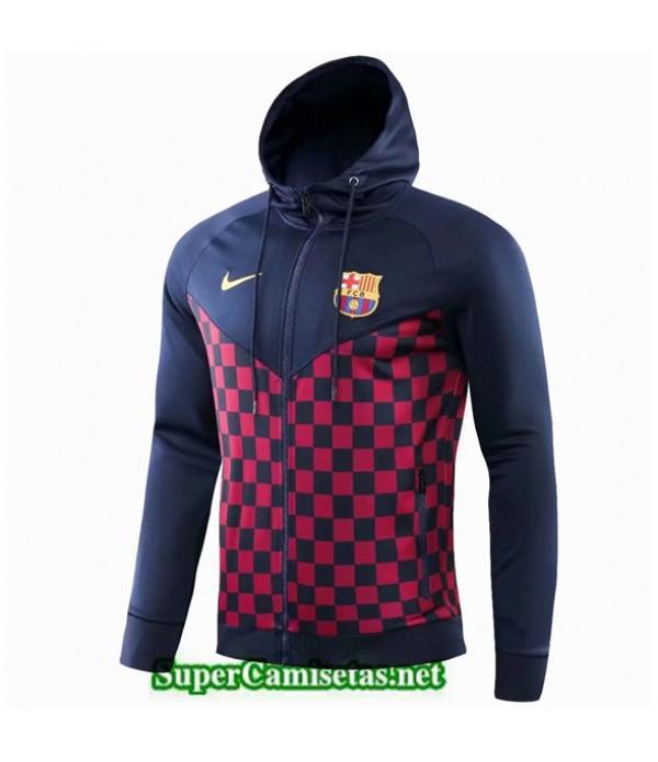 Tailandia Camiseta Barcelona Chaqueta Sombrero Rejilla Roja 2019/20