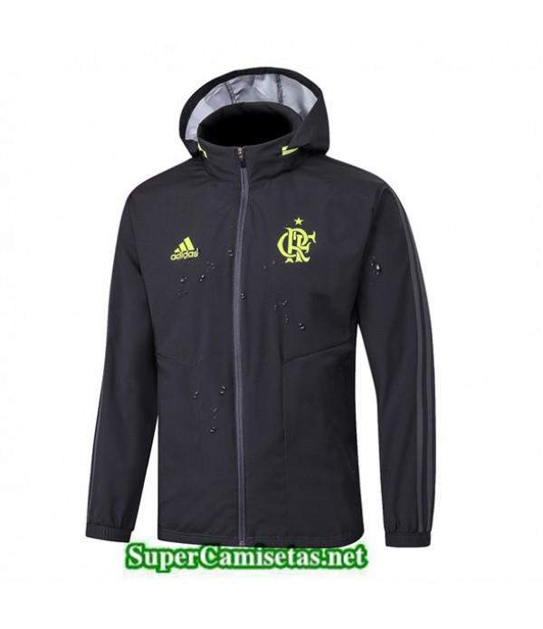 Tailandia Camiseta Flamengo Rompevientos 2019/20 Negro/banda Verde