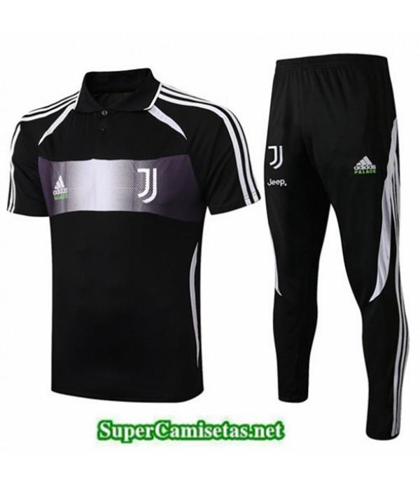 Tailandia Camiseta Kit De Entrenamiento Juventus Negro/banda Roja 2019/20