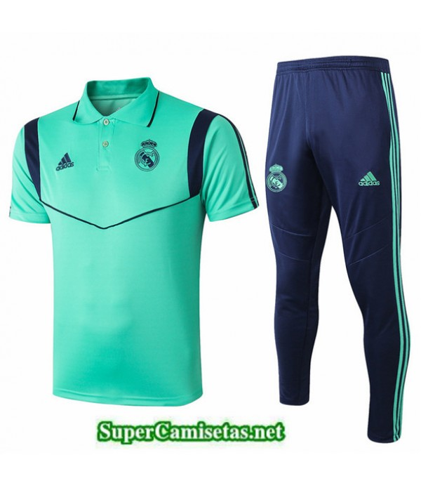 Tailandia Camiseta Kit De Entrenamiento Real Madrid Polo Verde 2019/20