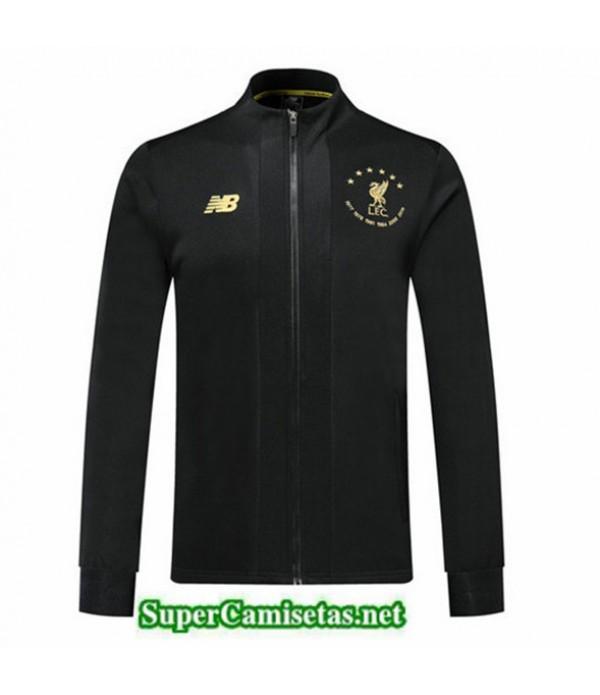 Tailandia Camiseta Liverpool Chaqueta 6 Estrellas Edición Commemorative Negro 2019/20