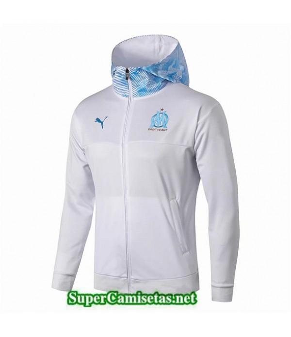 Tailandia Camiseta Marsella Chaqueta Blanco/azul Sombrero 2019/20