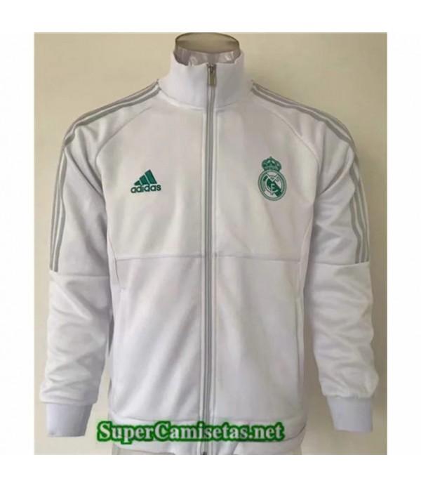 Tailandia Camiseta Real Madrid Chaqueta Blanco Cuello Alto 2019/20