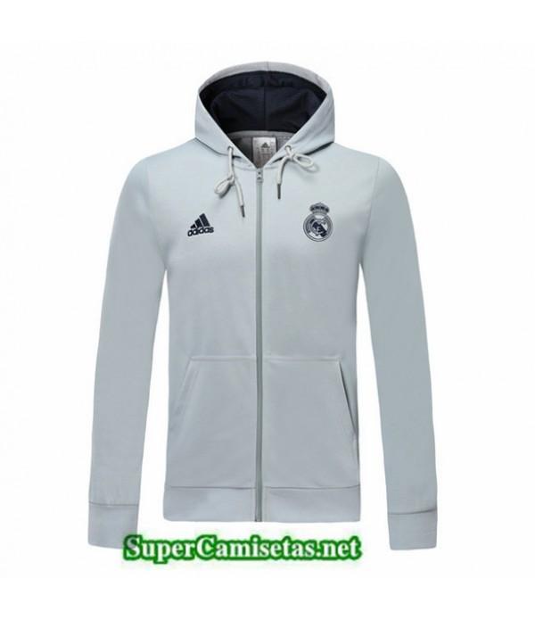 Tailandia Camiseta Real Madrid Chaqueta Sombrero Gris Claro 2019/20