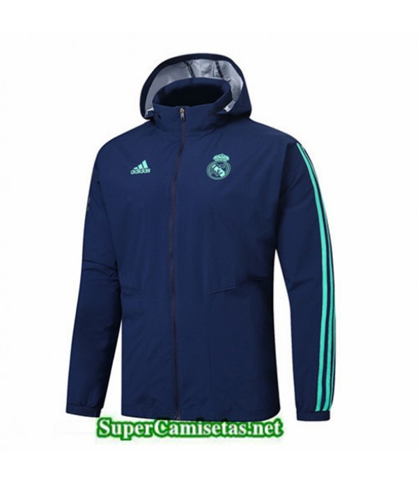 Tailandia Camiseta Real Madrid Rompevientos Sombrero Azul Oscuro 2019/20